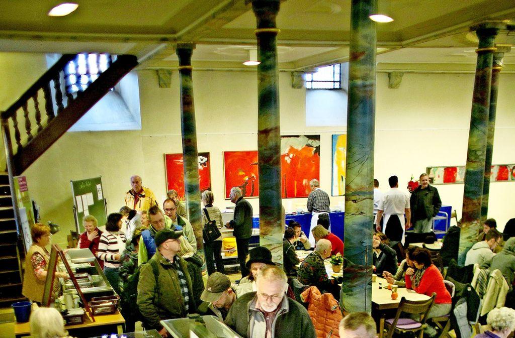 Rund 200 Gäste täglich werden voraussichtlich in der Stadtkirche bewirtet. Foto: Rudel/Archiv
