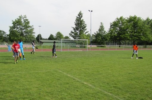 Eine Truppe von drei Kontinenten spielt auf dem Platz des Heumadener Sportvereins. Foto: Cedric Rehman