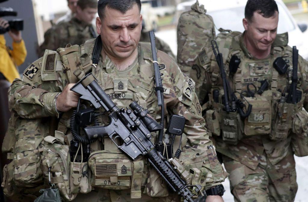 US-Truppen seinen laut Berichte in Alarmbereitschaft versetzt worden. Foto: dpa/Chris Seward