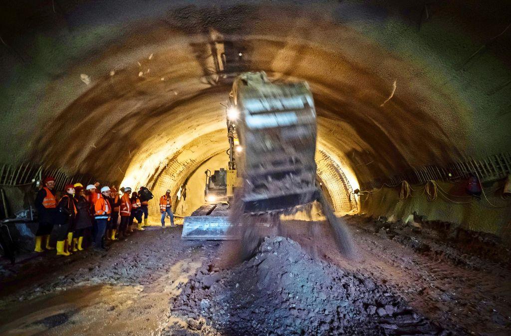 Erste Tunnelmeter unter dem Rosensteinpark sind geschafft. Foto: Lichtgut/Achim Zweygarth