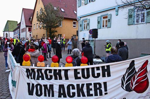 Demo trifft auf Demo in Filderstadt
