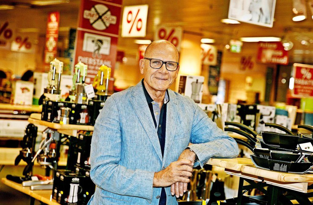 Joerg Hauber leitet das Familienunternehmen in siebter Generation, die emotionale Bindung mit dem Kaufhaus und mit Nürtingen ist hoch. Foto: Ines Rudel