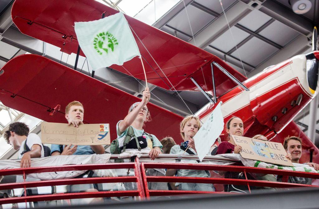 Die Schüler demonstrierten lautstark für den Klimaschutz. Foto: Lichtgut/Christoph Schmidt