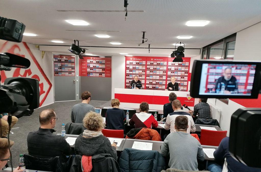 Vorbereitung ist alles: Am Montag empfängt der VfB Stuttgart Spitzenreiter Arminia Bielefeld. Foto: Andreas Rosar