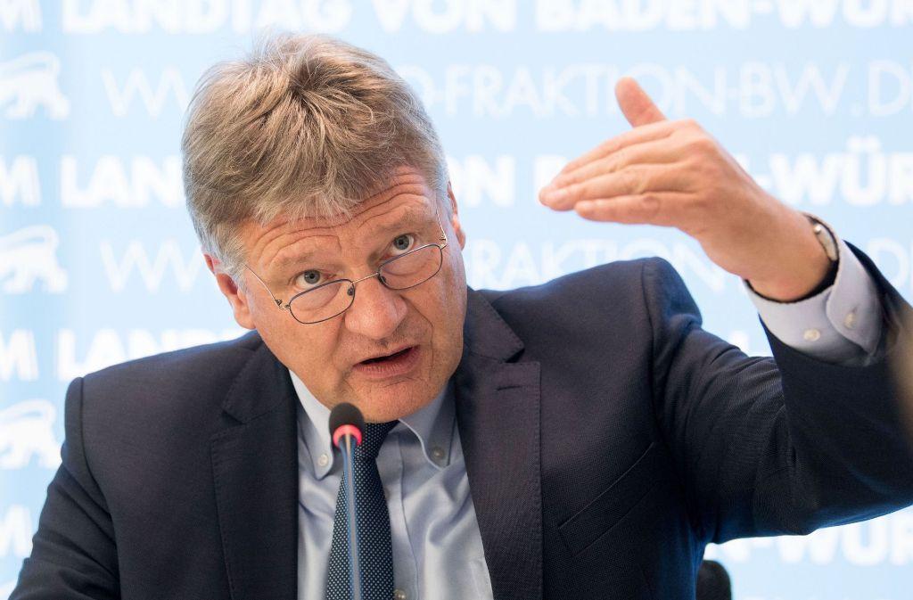 Teilt kräftig aus: AfD-Landtagsfraktionschef Jörg Meuthen Foto: dpa
