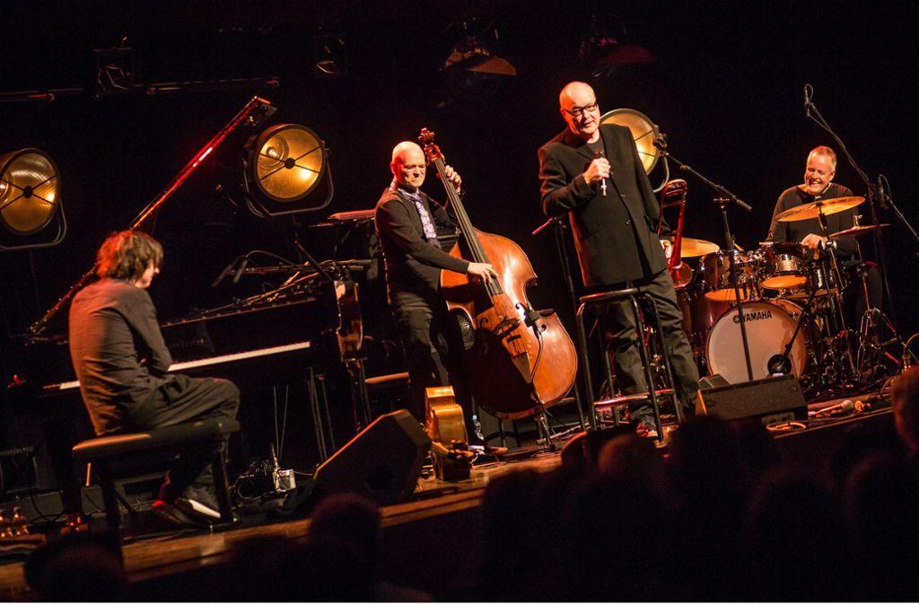 4 Wheel Drive beim Auftritt im Stuttgarter Theaterhaus (von links): Michael Wollny, Lars Danielsson, Nils Landgren, Wolfgang Haffner Foto: Lichtgut/Christoph Schmidt