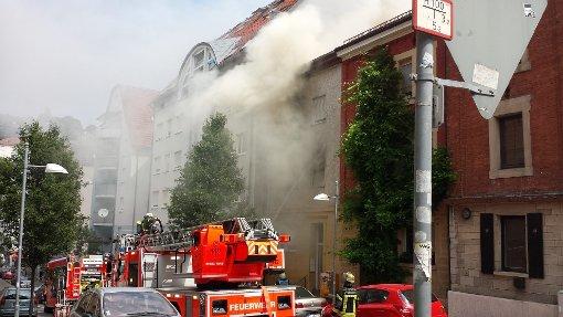 Flammen in der Tannenstraße