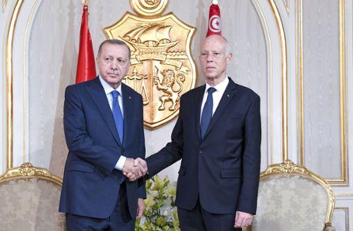 Türkischer Präsident trifft Amtskollegen Kaïs Saïed