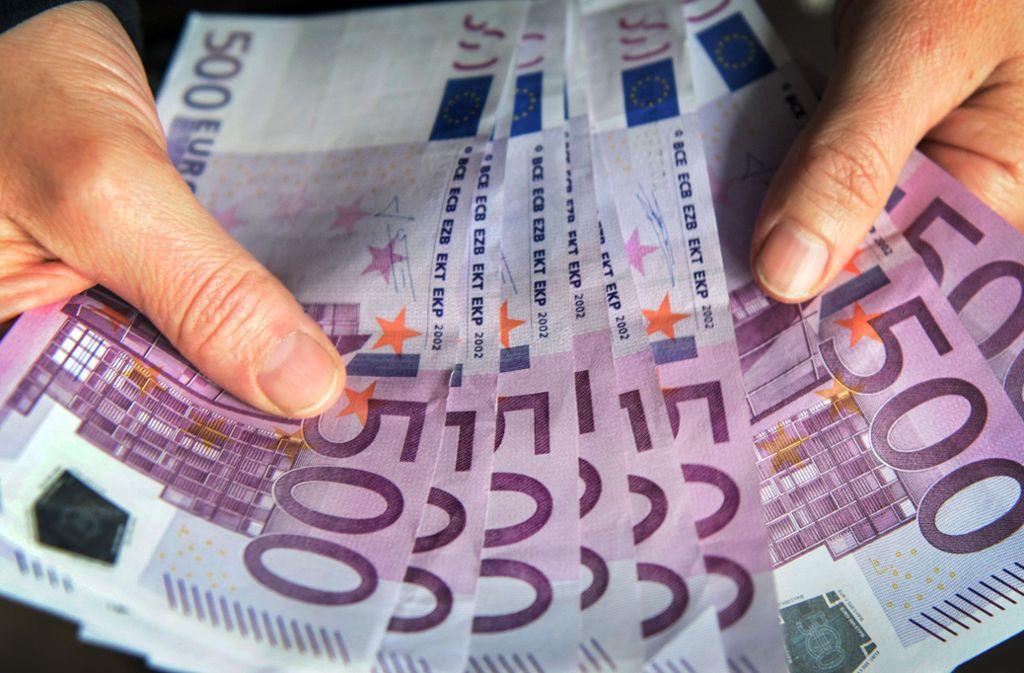 500-Euro-Scheine werden von der Bundesbank nicht mehr ausgegeben. Foto: dpa