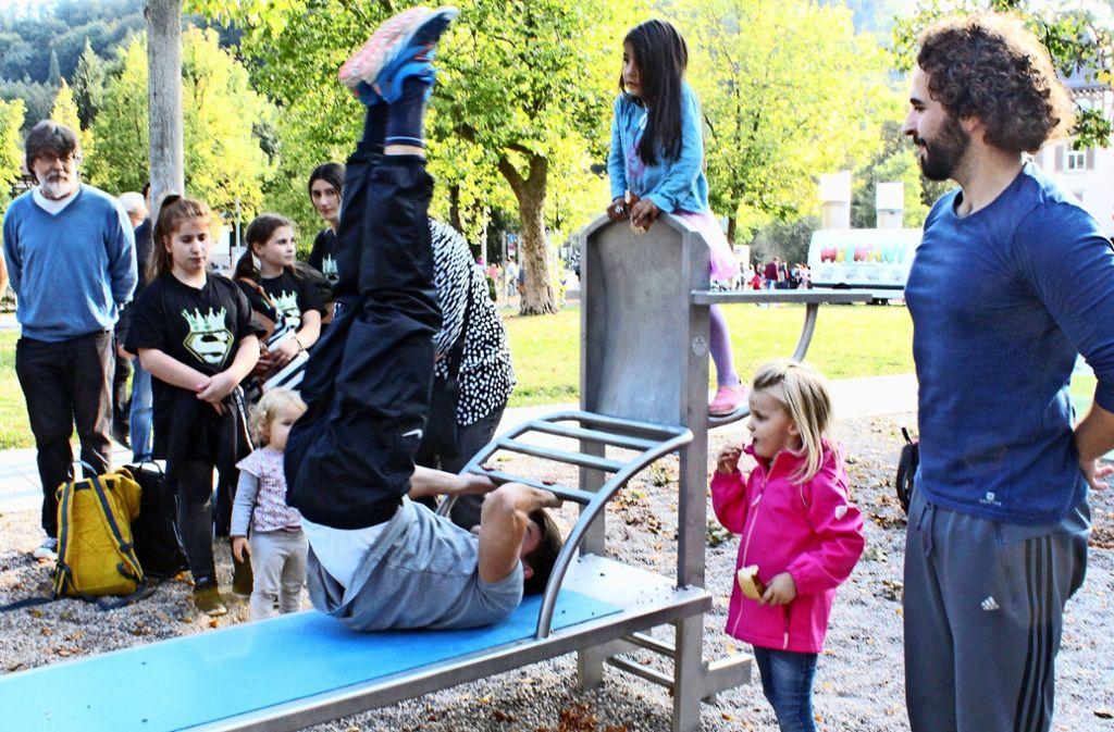 Ohne den Jugendgemeinderat Süd gäbe es keine Calisthenics-Anlage. Foto: Tatjana Eberhardt