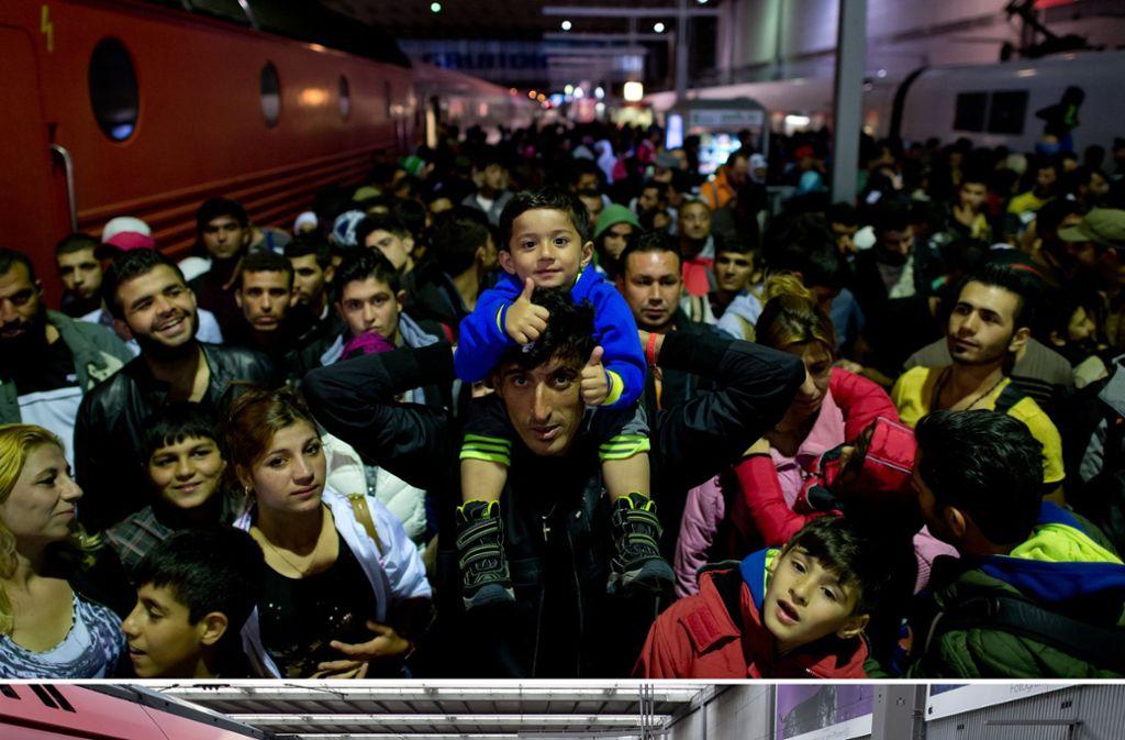 Einreise erlaubt: Flüchtlinge im Herbst 2015 bei der Ankunft in Deutschland Foto: dpa