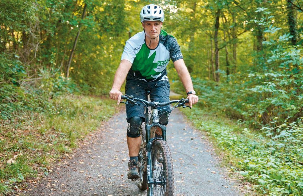 Hendrik Ockenga, Sprecher der Mountainbiker im DAV Sektion Schwaben, setzt sich dafür ein, dass Mountainbiken in Stuttgart als Chance und nicht als Problem gesehen wird. Foto: Ronny Schönebaum
