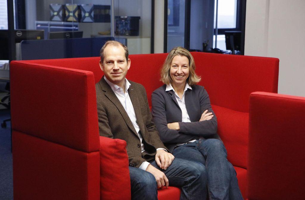 Saskia und Dirk Biskup ergänzen sich beruflich: Sie ist mit der Materie vertraut, er mit den Finanzen. Foto: Horst Haas