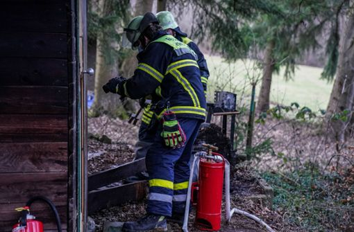 Jugendliche stecken Mülleimer in Brand