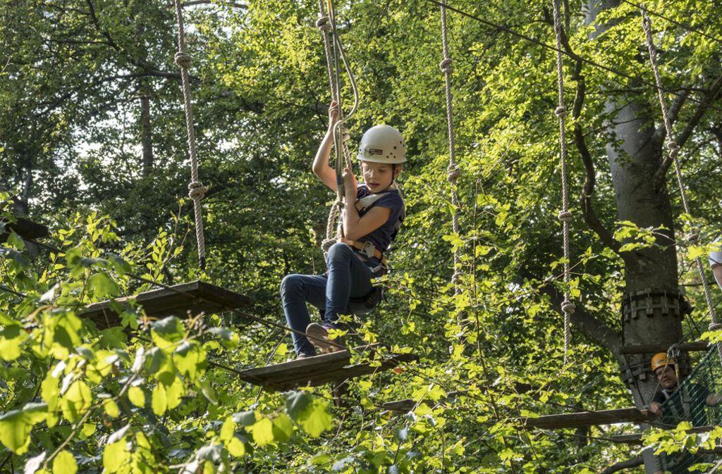 Hoch hinaus geht es im Waldseilgarten Herrenberg. Foto: factum/Weise