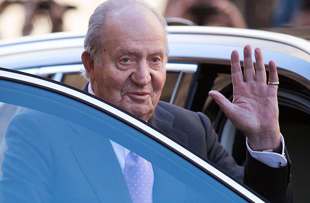 Wurde am Samstag am Herzen operiert: Juan Carlos. Foto: AFP