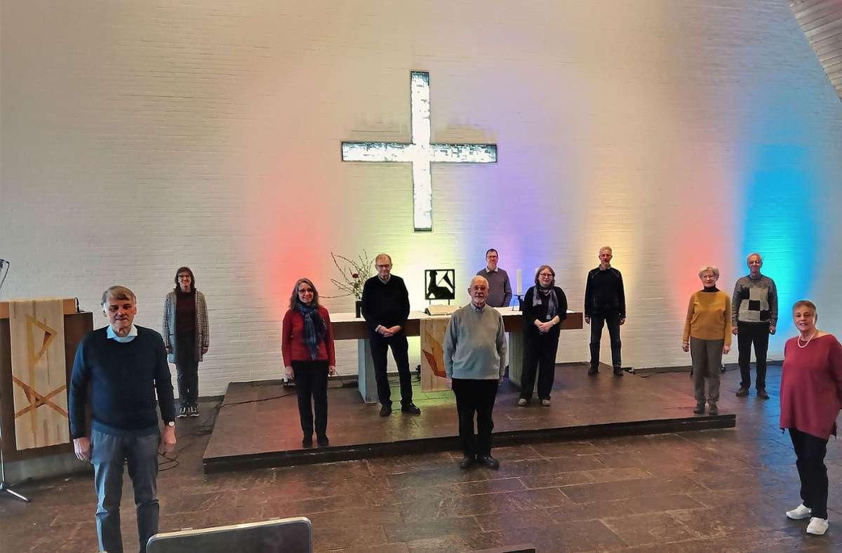 Das Ensemble des Johanneskirchen-Chors präsentiert  Passionsandachten am Gründonnertstag und am Karfreitag Foto: privat/privat