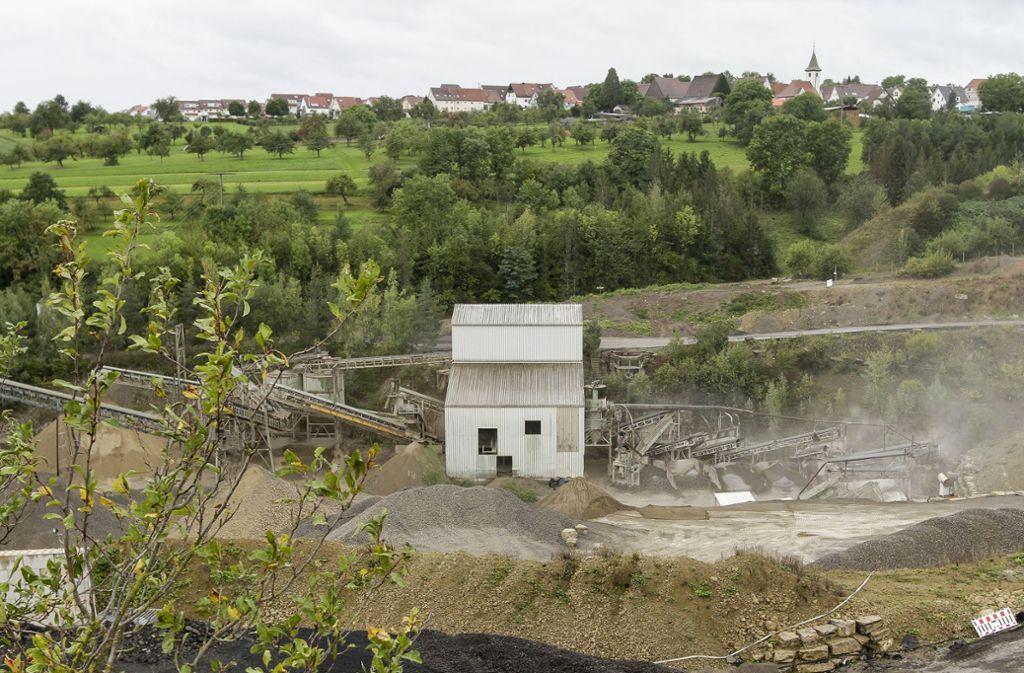 Der Steinbruch in Herrenberg-Haslach auf einem Archivfoto Foto: