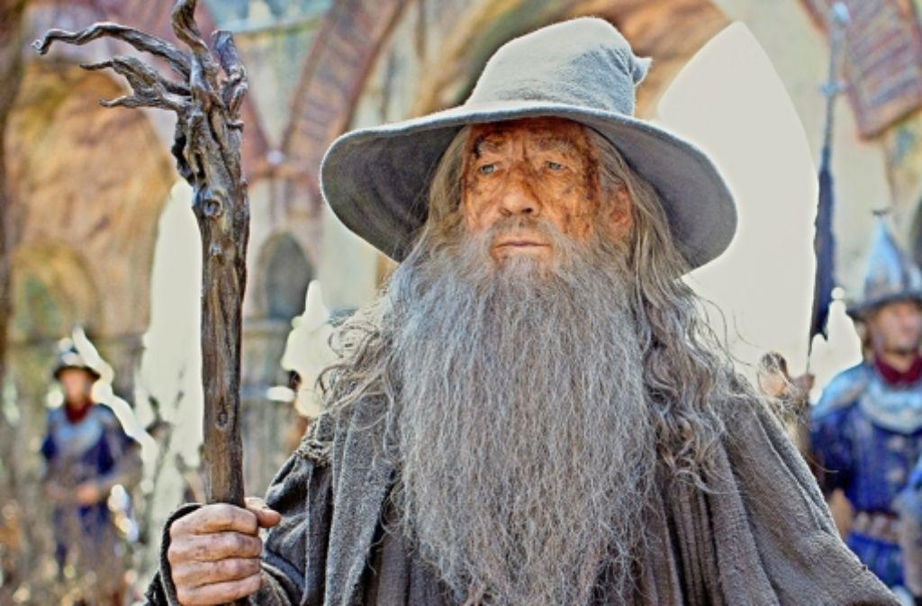 So lieben ihn die Kinogänger: Ian McKellen als der Zauberer Gandalf Foto: dpa, AP