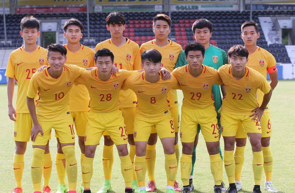 Chinas U20 soll sich durch die Freundschaftsspiele auf die Olympischen Spiele 2020 vorbereiten. Foto: Pressefoto Baumann