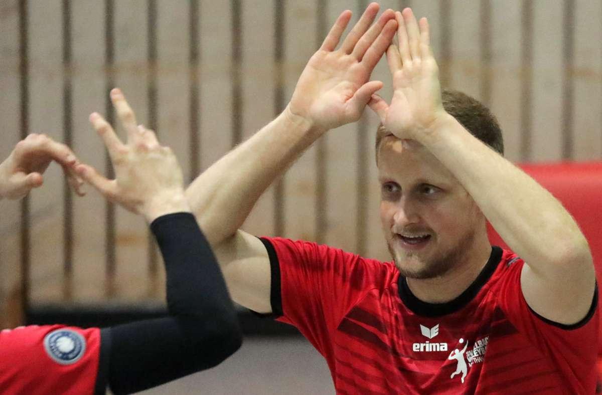 Geben auch künftig den Ton bei den Fellbacher Vorzeige-Volleyballern an: der Kapitän Patrick Köder. Foto: Patricia Sigerist