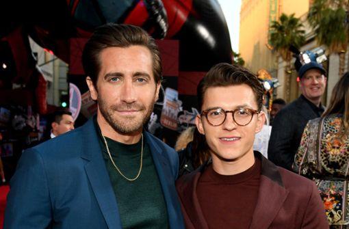 Jake Gyllenhaal und Tom Holland  feiern bei der Premiere