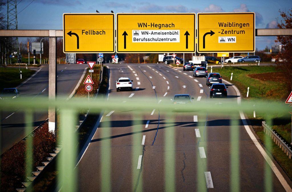 Wohin geht es mit den Plänen einer mehrspurigen Verbindungsstraße von Waiblingen nach Kornwestheim? Foto: Gottfried Stoppel