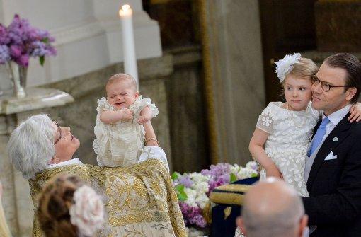 Kurzer Schreckmoment bei der königlichen Taufe
