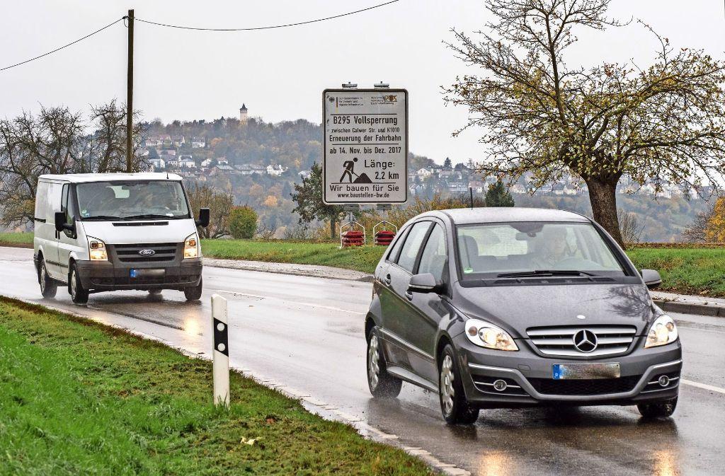 Wer   auf der B 295 von Ditzingen  nach Leonberg will, muss einen Umweg nehmen Foto: factum/Weise