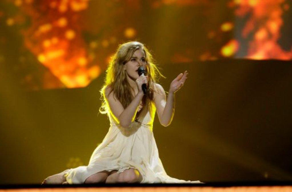 Die 20 Jahre alte dänische Sängerin Emmelie de Forest hat erwartungsgemäß den Eurovision Song Contest 2013 gewonnen. Damit gewann Dänemark nach 1963 und 2000 zum dritten Mal den Liederwettbewerb.  Foto: AP/dpa
