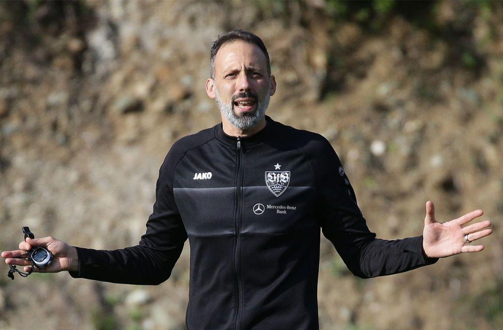 Der neue Trainer Pellegrino Matarazzo will Abwechslung im VfB-Training. Foto: Pressefoto Baumann/Hansjürgen Britsch