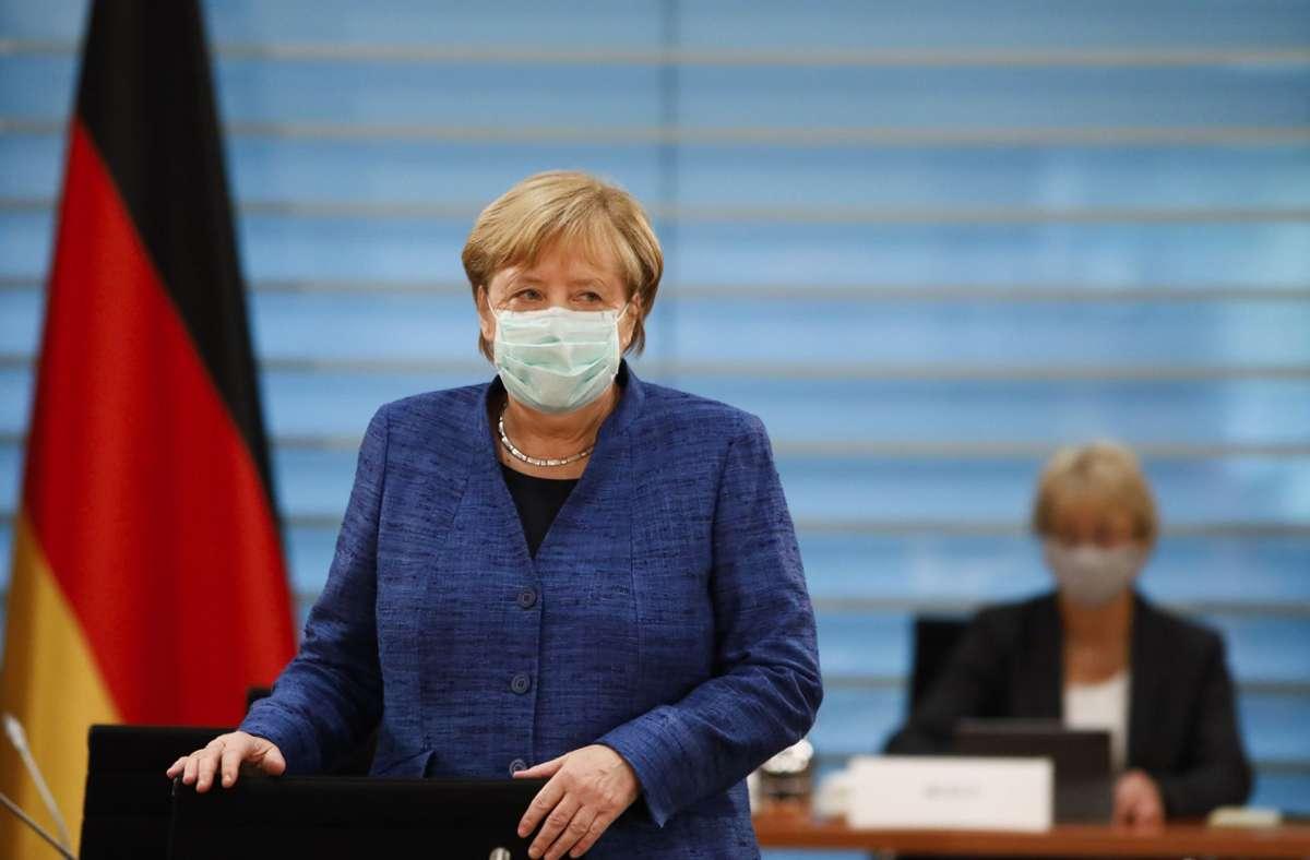 Im Kampf gegen das Coronavirus in Deutschland: Bundeskanzlerin Angela Merkel Foto: AP/Markus Schreiber