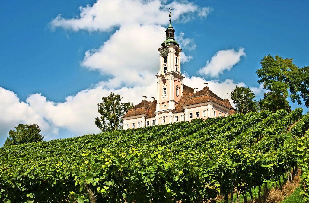 Das Kloster Birnau gehört zu den beliebtesten Attraktionen am  Bodenseeufer auf der deutschen Seite. Foto: Adobe Stock/Pithart