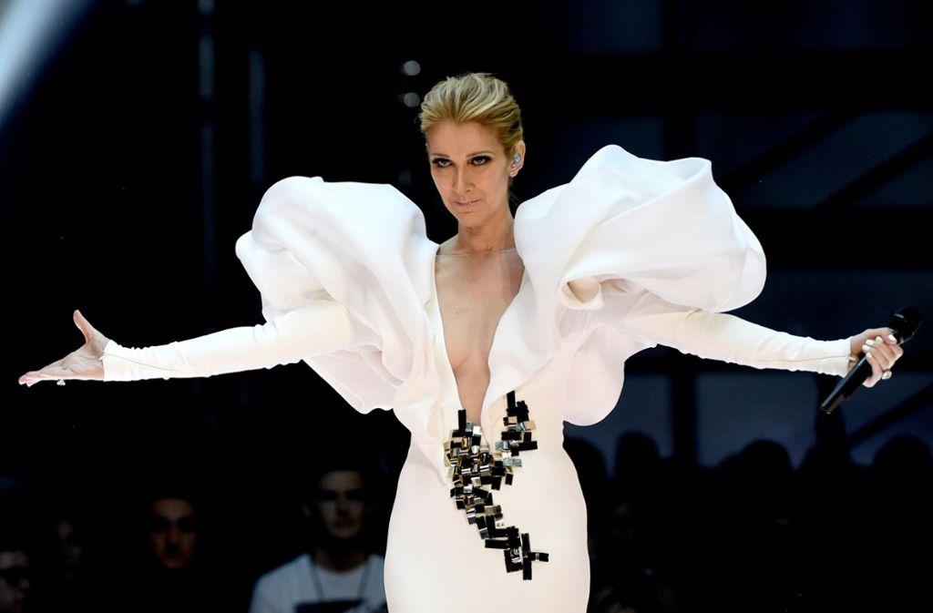 Das muss man tragen können:  Celine Dion hat ein neues Album eingespielt. Foto: dpa/Chris Pizzello