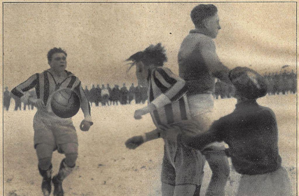 Das Team aus Stuttgart-Ost wurde 1927 Württembergischer Meister. Foto: Ausstellung