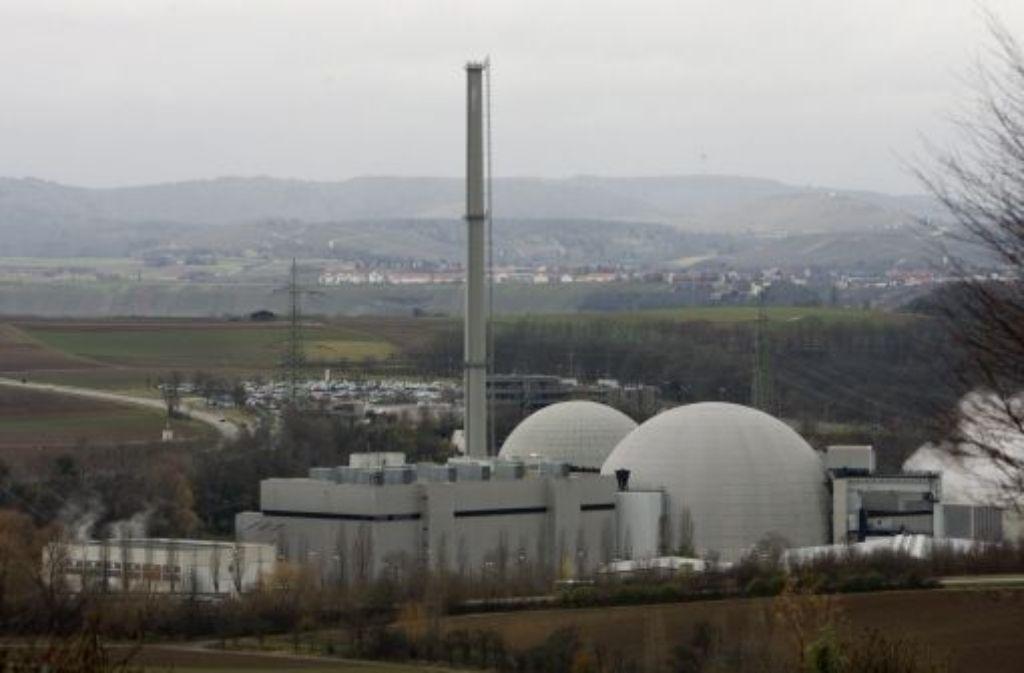Das Kernkraftwerk Neckarwestheim Foto: dapd