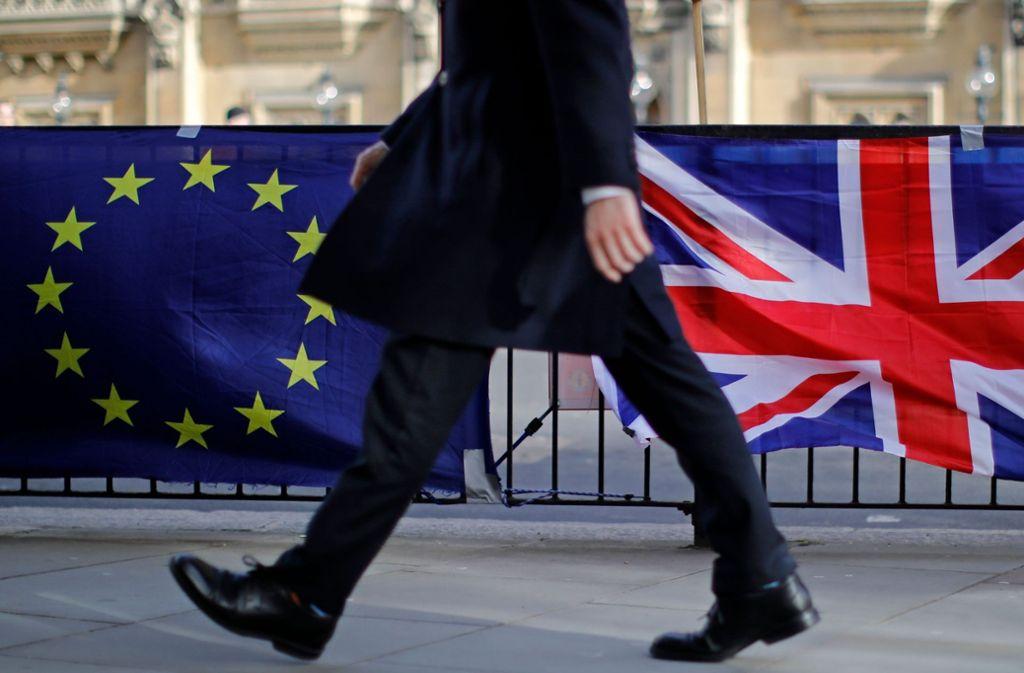 Der Brexit soll in sechs Wochen über die Bühne gehen. Foto: AFP