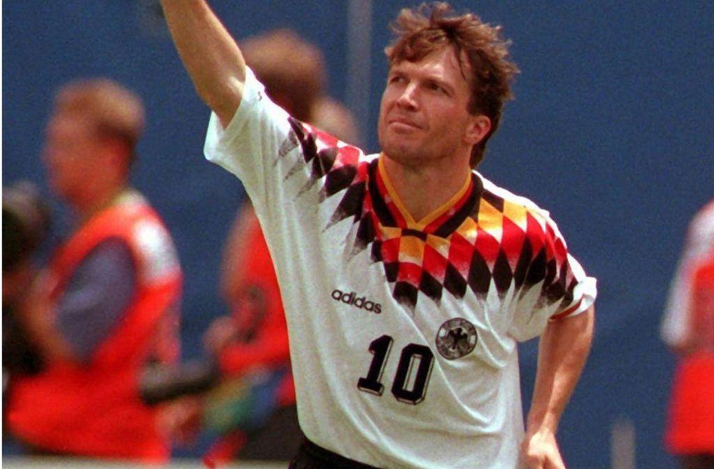 Lothar Matthäus führte das deutsche Team bei der WM 1994 in den USA an. Foto: dpa/Multhaup Oliver