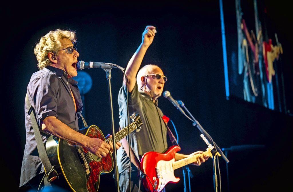 Roger Daltrey (links) und Pete Townshend – die zwei verbliebenen The-Who-Gründer am Montag in Stuttgart Foto: Lichtgut/Achim Zweygarth