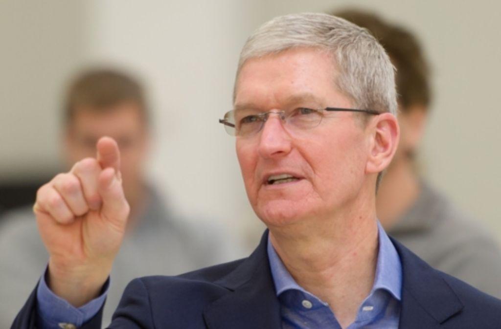 Apple-Chef Tim Cook will keine Betriebsgeheimnisse freigeben. Foto: dpa