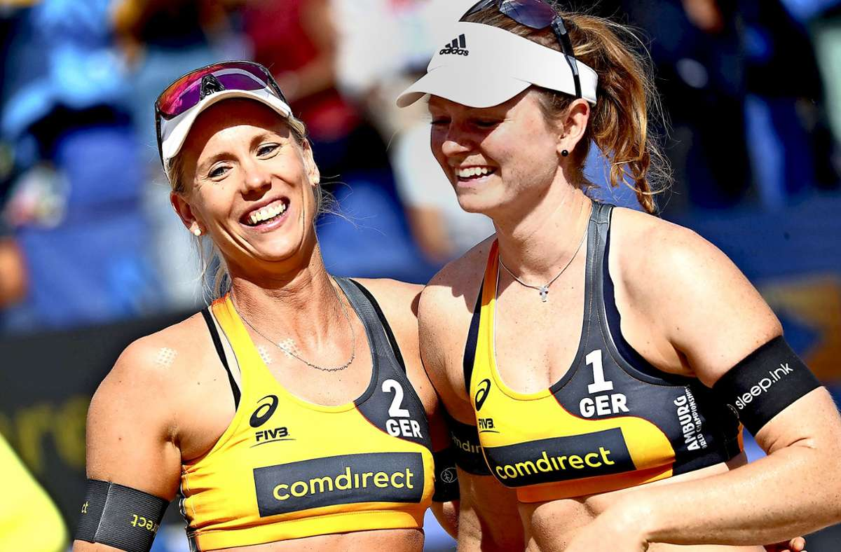 Ein starkes Duo: Karla Borger (links) und Svenja Müller. Foto: dpa