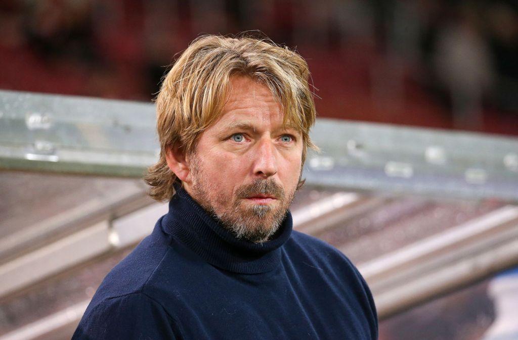 Sven Mislintat war froh über den Sieg des VfB. Foto: Pressefoto Baumann/Alexander Keppler