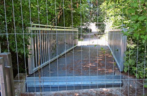 Die neue Brücke ist nicht begehbar