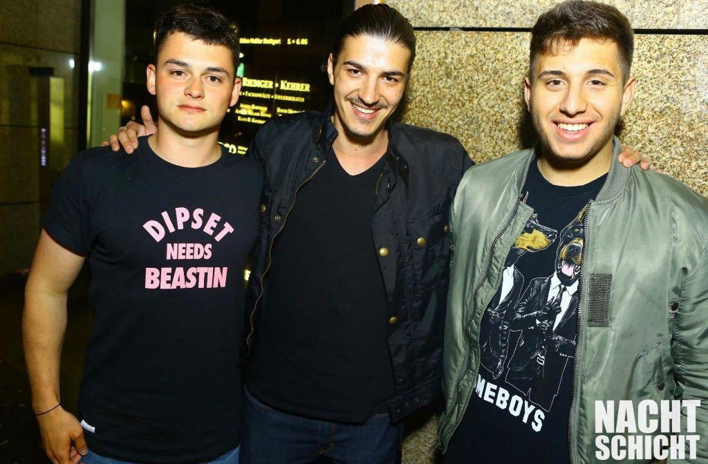 Drei, die wissen wie Feiern funktioniert: Blendi Krasniqi, Marc Fioriti und Denis Gugac (v. links). Foto: XO Entertainment
