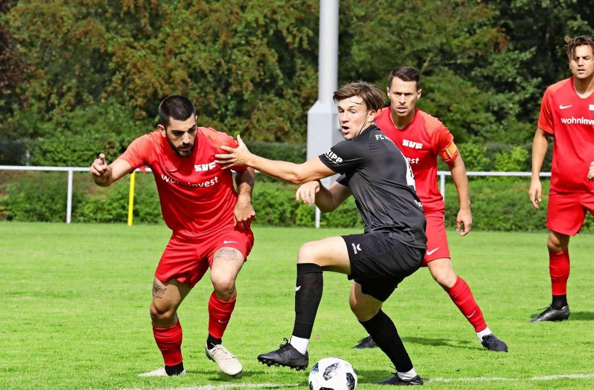 Charalambos Parharidis  (links) kann trotz  seiner     starken Vorstellung die fünfte Saisonniederlage  des SV Fellbach nicht verhindern. Foto: Patricia Sigerist