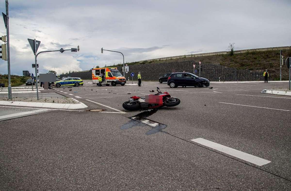 Der Unfall ereignete sich an einer Ampel vor dem Darmsheimer Tunnel. Foto: SDMG//Dettenmeyer