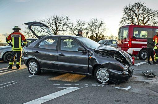Unfall auf Kreuzung: vier Kinder  verletzt