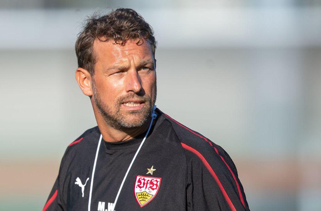 Markus Weinzierl hat sich vor dem Spiel am Freitag in einer Pressekonferenz geäußert. Foto: dpa