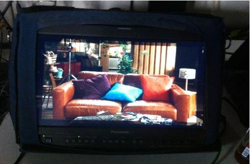 Der Blick auf den Monitor. Foto: Stefanie Ren