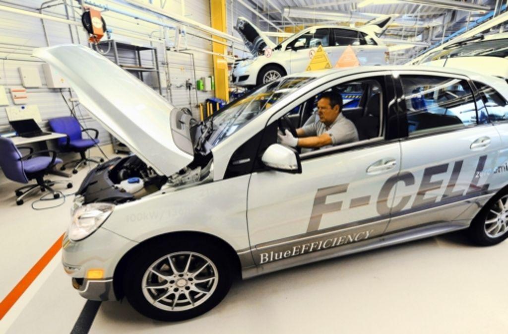 Die B-Klasse mit Brennstoffzellenantrieb wird nur in Kleinserie gebaut. Foto: dpa